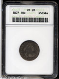 Early Dimes: , 1807 10C VF20 ANACS....