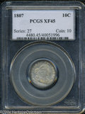 Early Dimes: , 1807 10C XF45 PCGS....