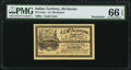 Obsoletes By State:Oklahoma, McAlester, IT- J. J. McAlester 25¢ 189_ Remainder PMG Gem Uncirculated 66 EPQ.. ...