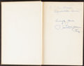 """Autographs:Others, 1927 """"Football For Coaches & Players"""" Signed by Pop Warner and Phog Allen...."""