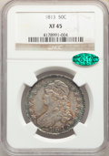 Bust Half Dollars: , 1813 50C XF45 NGC. CAC. NGC Census: (58/251). PCGS Population: (128/417). CDN: $450 Whsle. Bid for problem-free NGC/PCGS XF...