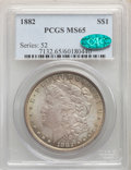Morgan Dollars: , 1882 $1 MS65 PCGS. CAC. PCGS Population: (1882/446). NGC Census: (1262/224). CDN: $290 Whsle. Bid for problem-free NGC/PCGS...