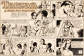 Original Comic Art:Comic Strip Art, John Celardo Tarzan Sunday Comic Strip #1315 Original Art dated 5-20(United Feature Syndicate, c. 1956). ...