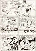 Original Comic Art:Panel Pages, Harry Habblitz - Tarzan Story Page 3 Original Art (c. 1969)....