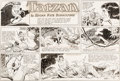 Original Comic Art:Comic Strip Art, Bob Lubbers Tarzan Sunday Comic Strip #1179 Original Art dated 10-11-53 (United Features Syndicate, 1953)....