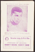 Football Collectibles:Programs, 1963 Cassius Clay (a.k.a. Muhammad Ali) Charity Boxing Program....