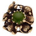 Estate Jewelry:Rings, Nephrite Jade, Gold Ring. ...