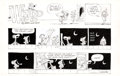 Original Comic Art:Comic Strip Art, Brant Parker and Johnny Hart The Wizard of Id Sunday Comic Strip Original Art and Color Guide dated 5-15-77 (Field...