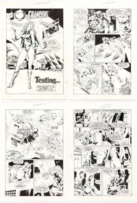 Chris Marrinan and Dell Barras Champions #5 Complete 26-Page Story Original Art (Heroic Publ., 1988). ... (Total: 26 Ori...