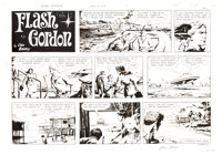 Dan Barry Flash Gordon Sunday Comic Strip Original Art dated 8-9-70 (King Features Syndicate, 1970)