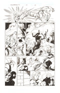 Mark Bagley and Scott Hanna Thunderbolts #12 and #16 Story Pages Group of 2 Original Art (Marvel Comics, 1997)