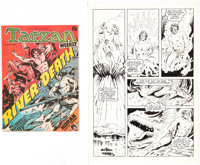 Dave Stevens and Will Meugniot Tarzan Weekly (nn) Story Page 12 Original Art (Byblos Productions, 1977)