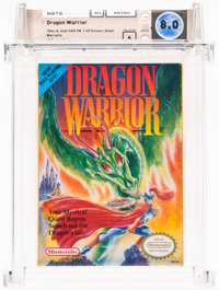 Dragon Warrior [1 HP, First Release] Wata 8.0 A Sealed NES Nintendo 1989 USA