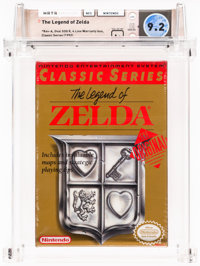 The Legend of Zelda [Classic Series] Wata 9.2 A+ Sealed NES Nintendo 1992 USA