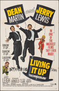 "Movie Posters:Comedy, Living It Up & Other Lot (Paramount, R-1965). Folded, Fine. One Sheets (2) (27"" X 41""). Comedy.. ... (Total: 2 Item..."