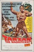 Movie Posters:Adventure, Tarzan the Magnificent & Other Lot (Paramount, 1960). Folded, Overall: Fine/Very Fine. Autographed One Sheet & One Sheet (27... (Total: 2 Items)