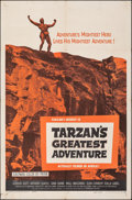 "Movie Posters:Adventure, Tarzan's Greatest Adventure (Paramount, 1959). Folded, Fine/Very Fine. One Sheet (27"" X 41""). Adventure.. ..."