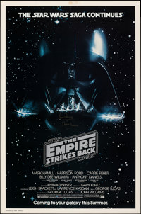 """The Empire Strikes Back (20th Century Fox, 1980). Rolled, Fine/Very Fine. Autographed One Sheet (27"""" X 41"""") Ad..."""