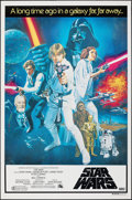 "Movie Posters:Science Fiction, Star Wars (20th Century Fox, 1977). Rolled, Very Fine-. Australian One Sheet (26.5"" X 40"") Tom Chantrell Artwork. Sci..."