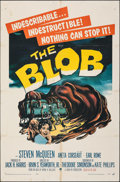 """Movie Posters:Science Fiction, The Blob (Paramount, 1958). Folded, Fine. One Sheet (27"""" X 41""""). Science Fiction.. ..."""