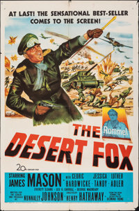 "The Desert Fox (20th Century Fox, 1951). Folded, Fine+. One Sheet (27"" X 41""). War"