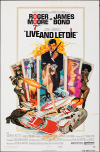 """Live and Let Die (United Artists, 1973). Folded, Fine+. One Sheet (27"""" X 41""""). Robert McGinnis Artwork. James..."""