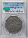 1900 $1 Lesher Dollar, A.B. Bumstead, Type One, Serial #195, Silver, Z-2, HK-788, R.5, XF45 PCGS. CAC....(PCGS# 19001)