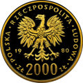 Poland: People's Republic gold Proof 2000 Zlotych 1980-MW PR68 Ultra Cameo NGC