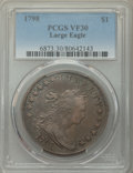 1798 $1 Large Eagle, Pointed 9, B-24, BB-124, R.2, VF30 PCGS....(PCGS# 40041)