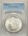 1883-CC $1 MS66+ PCGS. PCGS Population: (2471/242 and 457/24+). NGC Census: (1022/133 and 73/8+). CDN: $530 Whsle. Bid f...