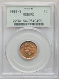 Indian Cents, 1908-S 1C MS64 Red PCGS....