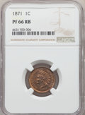 Proof Indian Cents, 1871 1C PR66 Red and Brown NGC. Snow-PR1....