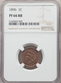 Proof Indian Cents, 1896 1C PR66 Red and Brown NGC. Snow-PR2....