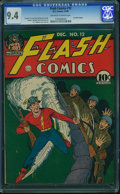 Golden Age (1938-1955):Superhero, Flash Comics #12 - JAMIE GRAHAM/GRAHAM CRACKERS COMICS COLLECTION (DC, 1940) CGC NM 9.4 Off-white to white pages.