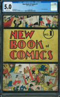 Golden Age (1938-1955):Humor, New Book of Comics #1 (DC, 1937) CGC VG/FN 5.0 Off-white pages.