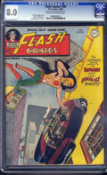 Golden Age (1938-1955):Superhero, Flash Comics #100 (DC, 1948) CGC VF 8.0 Off-white to white pages.