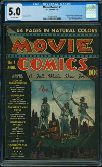 Movie Comics (DC) #1 (DC, 1939) CGC VG/FN 5.0 Off-white pages