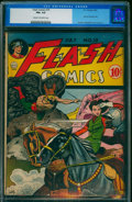 Golden Age (1938-1955):Superhero, Flash Comics #19 (DC, 1941) CGC FN+ 6.5 Cream to off-white pages.