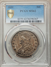 1831 50C MS62 PCGS. PCGS Population: (119/347 and 1/11+). NGC Census: (108/242 and 0/5+). MS62. Mintage 5,873,660....(PC...