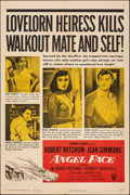 "Movie Posters:Film Noir, Angel Face (RKO, 1952). Folded, Very Fine-. One Sheet (27"" X 41""). Film Noir.. ..."