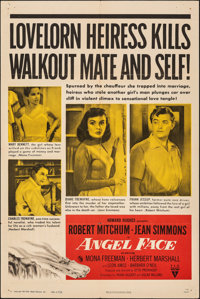 "Angel Face (RKO, 1952). Folded, Very Fine-. One Sheet (27"" X 41""). Film Noir"