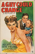 Movie Posters:Drama, A Guy Could Change (Republic, 1946). Folded, Fine/Very Fin...