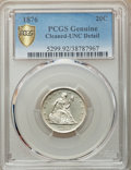 1876 20C -- Cleaning -- PCGS Genuine. Unc Details. NGC Census: (4/284). PCGS Population: (12/280). CDN: $825 Whsle. Bid...