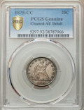 1875-CC 20C -- Cleaning -- PCGS Genuine. AU Details. NGC Census: (26/450). PCGS Population: (75/653). CDN: $750 Whsle. B...