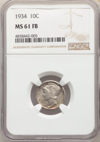 1916 10C MS63 Full Bands NGC. This lot will also include the following: 1934 10C MS61 Full Bands NGC; and a 1936