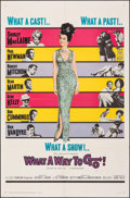 """Movie Posters:Comedy, What a Way to Go! (20th Century Fox, 1964). Folded, Fine/Very Fine. One Sheet (27"""" X 41""""). Comedy.. ..."""