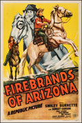 "Movie Posters:Western, Firebrands of Arizona (Republic, 1944). Fine/Very Fine on Linen. One Sheet (27"" X 41""). Western.. ..."
