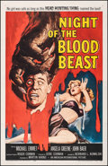 """Movie Posters:Horror, Night of the Blood Beast (American International, 1958). Fine/Very Fine on Linen. One Sheet (27"""" X 41.5""""). Horror.. ..."""