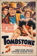 "Movie Posters:Western, Tombstone: The Town Too Tough to Die (Paramount, 1942). Fine/Very Fine on Linen. One Sheet (27"" X 41""). Western.. ..."