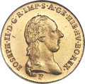 Austrian Netherlands, Austrian Netherlands: Joseph II gold 1/2 Souverain d'Or 1787-F MS65 NGC,...
